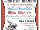 Alice In Wonderland Tea Party Invitation Ideas Alice In Wonderland Birthday Party Invitation Instant