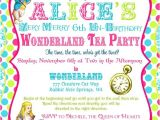 Alice In Wonderland Tea Party Invitation Ideas Alice In Wonderland Invitation Birthday Tea Party