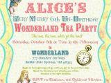 Alice In Wonderland Tea Party Invitation Ideas Alice In Wonderland Invitation Vintage Birthday Tea