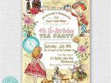 Alice In Wonderland Tea Party Invitation Ideas Alice In Wonderland Printable Birthday Invitation