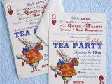 Alice In Wonderland Tea Party Invitation Ideas Alice In Wonderland Un Birthday Tea Party Invitations Thank