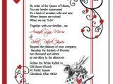 Alice In Wonderland Wedding Invitation Template Alice In Wonderland Wedding Invitations Template Best