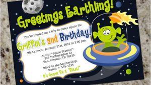 Alien Birthday Party Invitations Alien Birthday Party Invitations Space Alien Outer Space