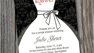 All White Bridal Shower Invitations Black and White Inexpensive Wedding Dress Bridal Shower