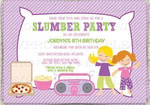 Almost Sleepover Party Invitations Dance Slumber Party Girl 39 S Sleepover Invitation