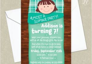 Almost Sleepover Party Invitations Girls Almost A Slumber Party Birthday Party Invitation