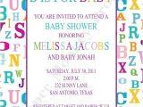 Alphabet Baby Shower Invitations Custom Printed Alphabet Baby Shower Invitations 1 00