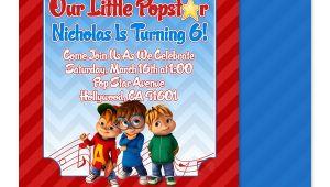 Alvin and the Chipmunks Birthday Invitation Template Eccentric Designs by Latisha Horton Alvin and the
