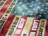 American Flag Wedding Invitations Wedding Invitation American Flag Rustic by Jackandjillwedding