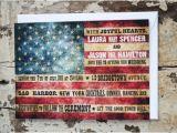 American Flag Wedding Invitations Wedding Invitation American Flag Rustic by