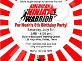 American Ninja Warrior Birthday Invitation Template 60 Best Images About American Ninja Warrior Birthday Party