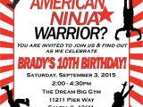 American Ninja Warrior Birthday Invitation Template American Ninja Warrior Birthday Invitation