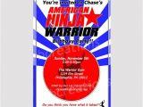 American Ninja Warrior Birthday Invitation Template Ninja Warrior Invitations Ninja Warrior Party Ninja