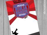 American Ninja Warrior Birthday Invitation Template Ninja Warrior Party Ninja Warrior Thank You Anw Birthday