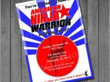 American Ninja Warrior Party Invitations American Ninja Warrior Birthday Party Invitations by