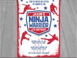 American Ninja Warrior Party Invitations American Ninja Warrior Invitation Ninja Warrior Invite