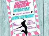 American Ninja Warrior Party Invitations American Ninja Warrior Printable Invitation by