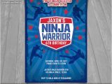 American Ninja Warrior Party Invitations Ninja Warrior Invitation American Ninja Warrior Invite