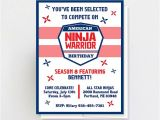 American Ninja Warrior Party Invitations Printable American Ninja Warrior Invitation Ninja Warrior