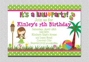An Invitation for A Birthday Party Luau Birthday Invitation Luau Birthday Party Invitation