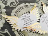 Angel Wings Baby Shower Invitations Angel Wings Invitations Heaven Sent Baby by