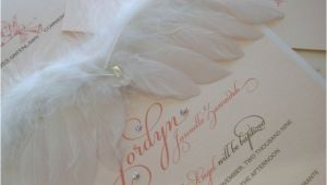 Angel Wings Baby Shower Invitations Best 25 Angel Baby Shower Ideas On Pinterest