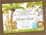 Animal themed Birthday Party Invitation Wording Baby Shower Invitations Free Printable Safari theme Baby