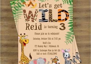 Animal themed Birthday Party Invitation Wording Safari Birthday Invitation Jungle Birthday Invitation