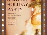 Annual Holiday Party Invitation Template Invitation Samples Free Business Templates