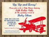 Antique Airplane Baby Shower Invitations Vintage Airplane Customized Baby Shower Invitation Plane Up Up