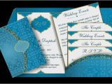 Arabic Style Wedding Invitations Arabic Email Wedding Invitation In Blue Gold