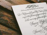 Arabic Style Wedding Invitations Press 39 D Letterpress Wedding Invitation Ideas From Bella