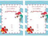 Ariel Birthday Invitations Printable Little Mermaid Birthday Invitations – Birthday Printable