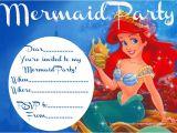 Ariel Birthday Invitations Printable Little Mermaid Invitation Free Printable – orderecigsjuice