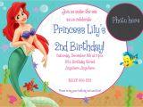 Ariel Birthday Invitations Printable the Little Mermaid Birthday Invitations