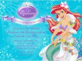 Ariel Birthday Party Invitations Printable 5 Best Of Printable Ariel Party Little Mermaid
