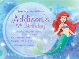 Ariel Birthday Party Invitations Printable 9 Best Of Free Mermaid Printable Invitation