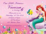 Ariel Birthday Party Invitations Printable Ariel Invitation Printable Disney Princess Birthday