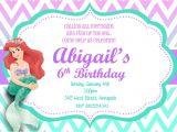 Ariel Birthday Party Invitations Printable Little Mermaid Ariel Custom Printable Birthday Party