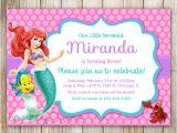Ariel Birthday Party Invitations Printable Little Mermaid Birthday Invitation Ariel Invitation Ariel