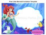 Ariel Birthday Party Invitations Printable Little Mermaid Font