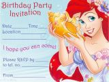 Ariel Birthday Party Invitations Printable Princess Coloring Pages