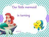 Ariel Birthday Party Invitations Printable Updated Free Printable Ariel the Little Mermaid