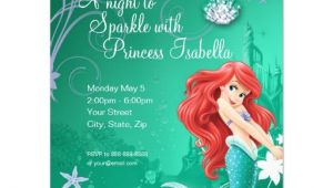 Ariel Party Invites Ariel Birthday Invitation 4 25 Quot X 5 5 Quot Invitation Card
