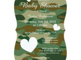 Army Camo Baby Shower Invitations Army Camo Baby Shower Invitations with Cute Hearts