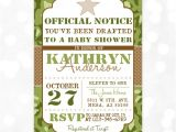 Army Camo Baby Shower Invitations Camo Boy Baby Shower Invite Military Baby Shower