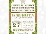 Army themed Baby Shower Invitations Camo Boy Baby Shower Invite Military Baby Shower Invitation