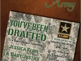 Army themed Baby Shower Invitations Military Baby Showers Us Military and Digital Invitations