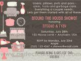 Around the House Bridal Shower Invitations Around the House Wedding Bridal Shower Invitation
