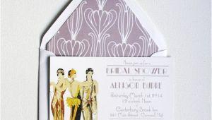 Art Deco Bridal Shower Invitations Art Deco Bridal Shower Invitations Deco Ladies